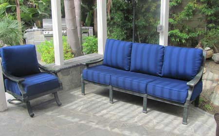 Outdoor Cushions Blue Outdoor Dining Patio Artistic Upholstery