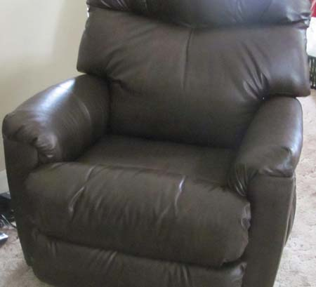 Recliner | Blues and Maroon Accents | Custom Upholstery || Chairs |