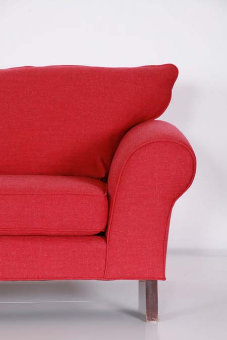 Sofa Red Half Artistic Upholstery Services ReUpholstery Custom Furniture